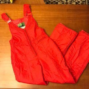 VINTAGE Red Snow Suit