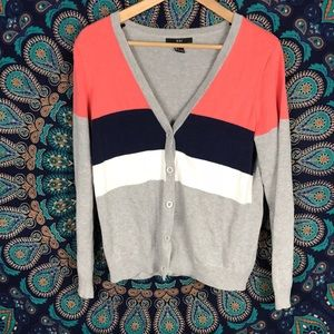 Forever 21 Women's color block cardigan size L