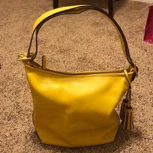 Mustard yellow Coach purse