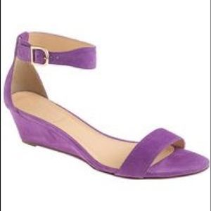 J Crew Lillian suede wedge sandals 7.5
