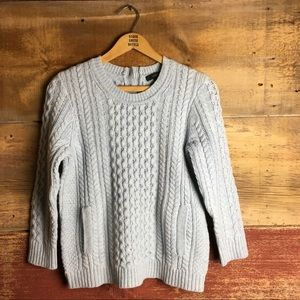J.Crew Cable-Knit Pocket Sweater
