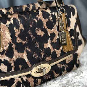 Leopard Print, Leather Coach Shoulder Bag