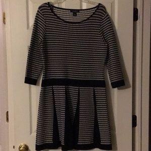 Lauren Ralph Lauren Herringbone 3/4 Sleeved Dress