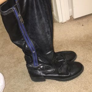Madden girl black leather boots