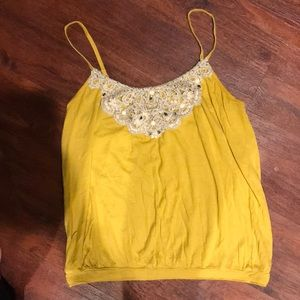 Express Sequin and Lace Embellished Tank Top