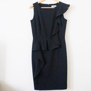 [Calvin Klein] Black Peplum Dress