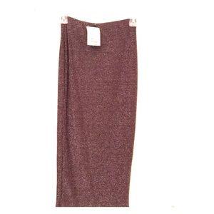 Topshop NWT shimmery midi skirt