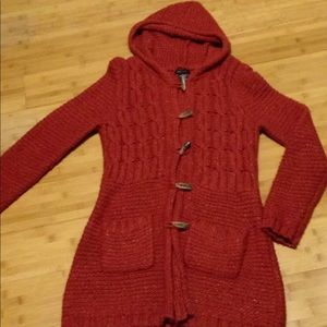 BCBG Maxaziria Long Rust Sweater