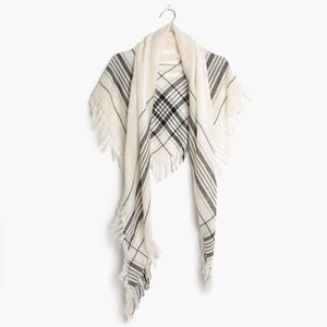 Madewell Plaid Triangle Scarf