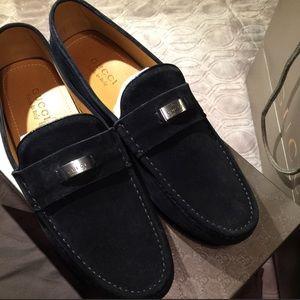 Men's Gucci Loafer NIB Black Suede 10.5/G 11.5/US