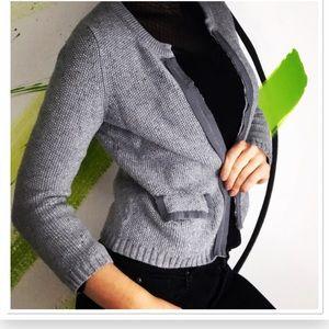Banana Republic open blazer cotton sweater jacket.