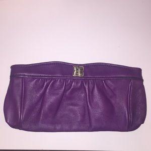 BCBG purple clutch