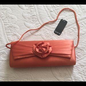 Izard Clutch Orange Shoulder Purse Evening Bag