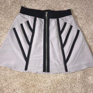 Central Park West zipper detail skirt