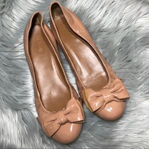 | J. Crew | Nude Factory Patent Bow Ballet Flats
