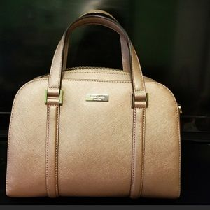 Kate Spade Purse in Dusty Rose Gold with strap