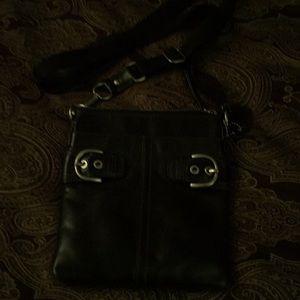 Coach black leather Crossbody