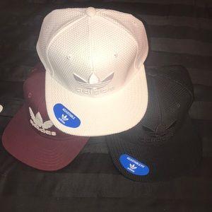 Set of 3 adidas SnapBack caps