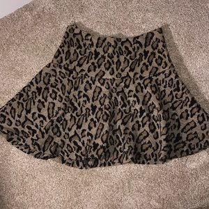 free people leopard skater skirt