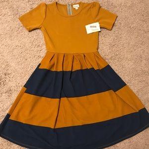 Lularoe Amelia Dress XS NWT Striped