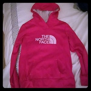 Hot Pink North face women's sweater Med
