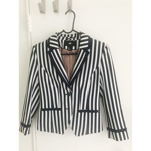 H&M stripy navy and white jacket.