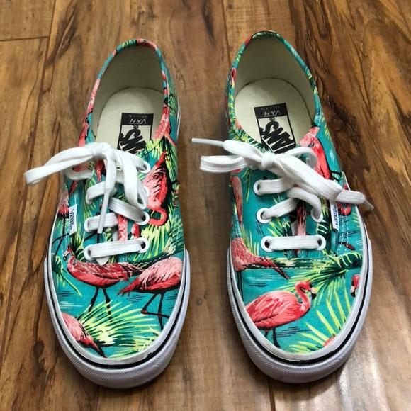 d02e66bfe6da28 VANS Classic Tropical Flamingo Van Doren Shoes W6.  M 5a13a504291a35554a005700