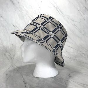 Kangol Gray and Navy Womens Bucket Hat - Large