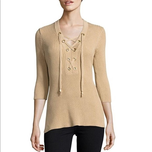 1a4d0bc86b7 MICHAEL Michael Kors lace up sweater