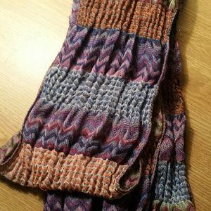 Multi-colored tribal print scarf