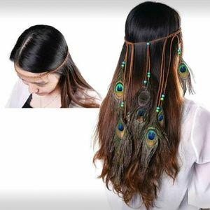 Boho Peacock Headpiece/Headband