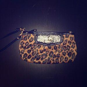 Leopard Coach Wristlet