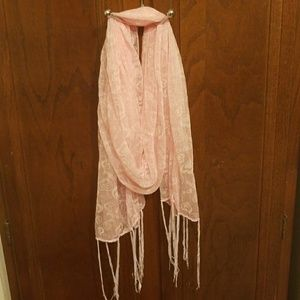 BeBe See threw light Pink Lacey SCARF