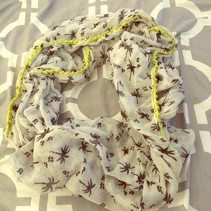 Palm tree scarf