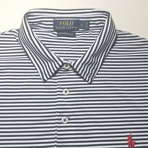 Polo by Ralph Lauren striped rugby shirt large