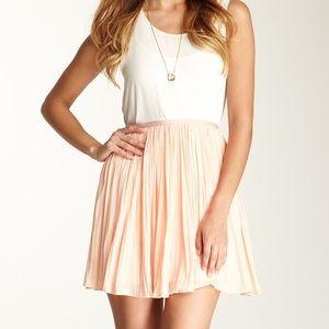 BB Dakota Pleated Chiffon Skirt