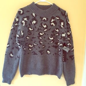 NWT Chunky Animal Print Sweater
