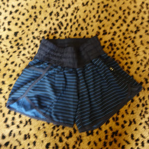 Lululemon Athletica Tracker Short Blue Stripe Sz 4