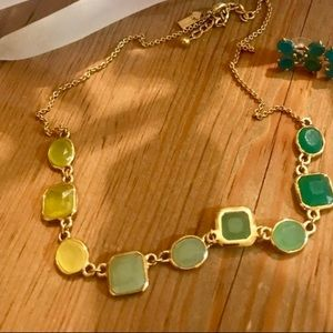 Kate Spade Multicolor Stones/Gold Color Necklace