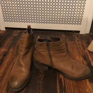 Vince Camuto leather ankle boots.
