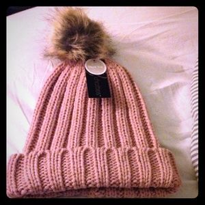 Cute pink Pom Pom knit hat