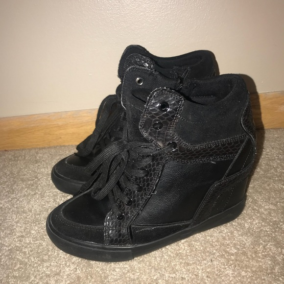 Aldo Shoes - Black ALDO Wedge Sneakers