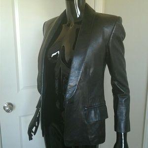 Authentic Balmain Leather Lamb Skin Jacket