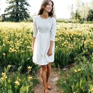 EXCLUSIVE Oatmeal Cotton Dress