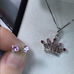 Crown necklace & earring set!