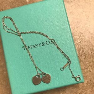 Tiffany and co. Double heart pendant necklace