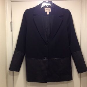 Forever  21 blazer coat w/vegan leather accent