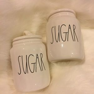 "Rae Dunn set of "" Sugar "" Canisters { 2 }"