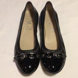 AGL Black Flats Size 8