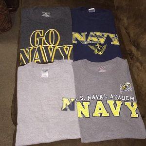 Set of 4 Navy t-shirts